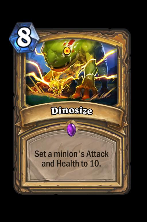 Dinosize Hearthstone kártya