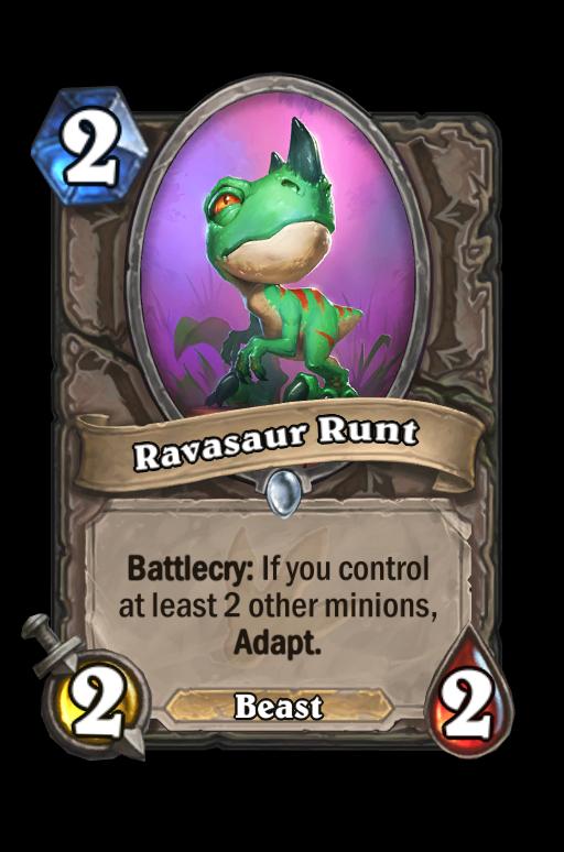 Ravasaur Runt Hearthstone kártya