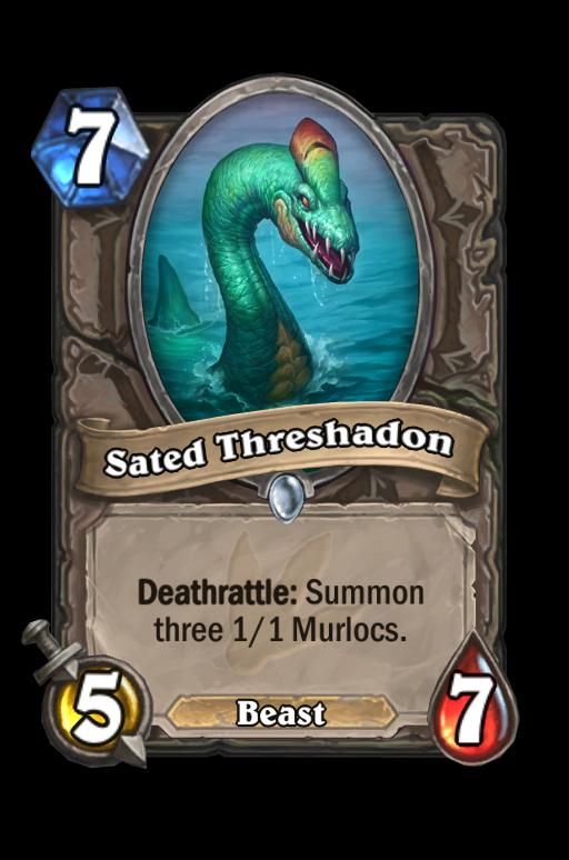 Sated Threshadon Hearthstone kártya
