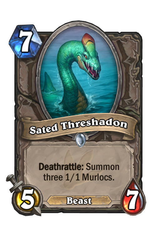 Sated Threshadon Hearthstone kártya