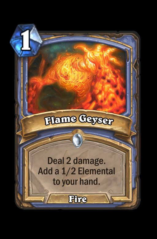 Flame Geyser Hearthstone kártya