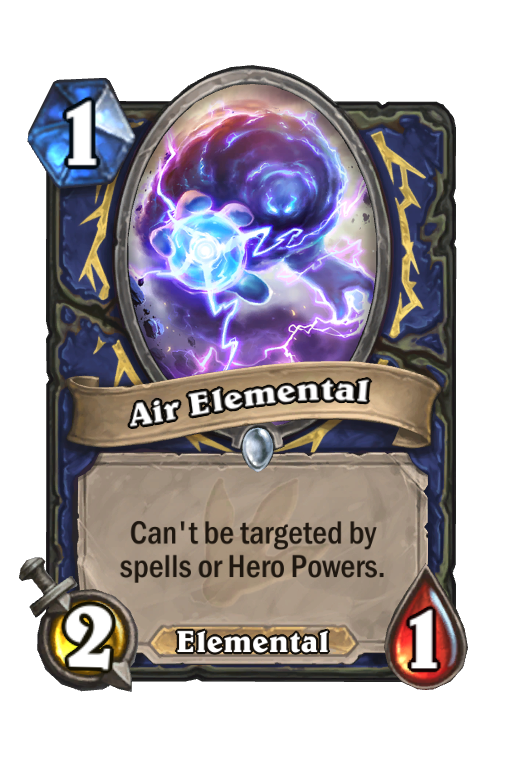 Air Elemental Hearthstone kártya