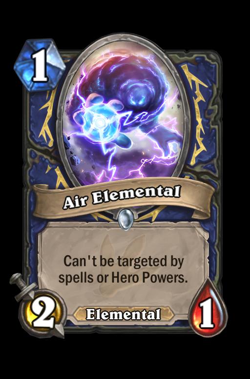 Air Elemental Hearthstone kártya