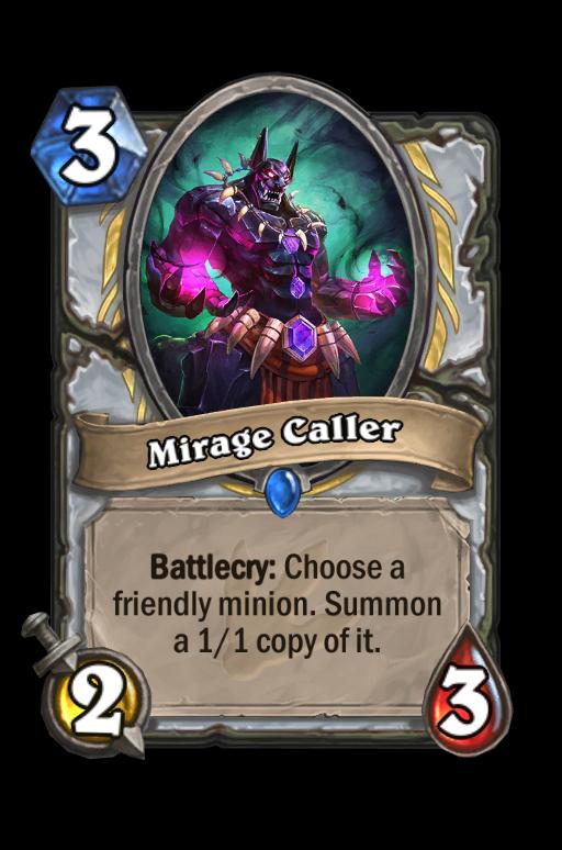 Mirage Caller Hearthstone kártya