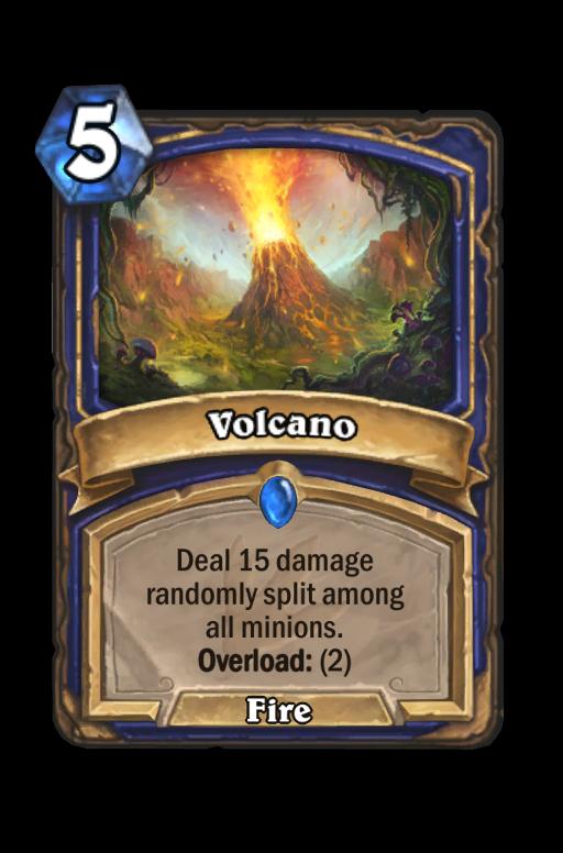 Volcano Hearthstone kártya