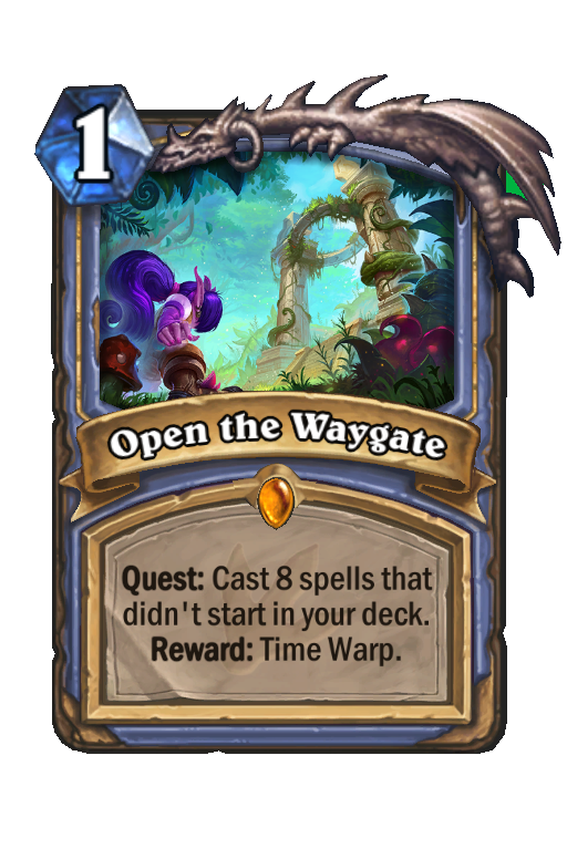 Open the Waygate Hearthstone kártya