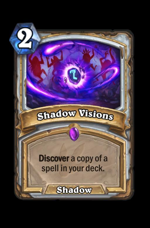 Shadow VisionsHearthstone kártya