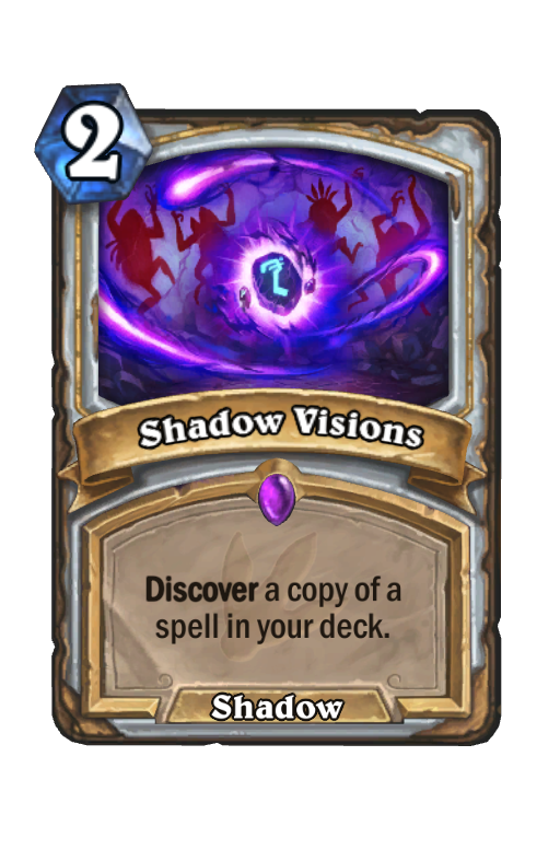 Shadow Visions Hearthstone kártya