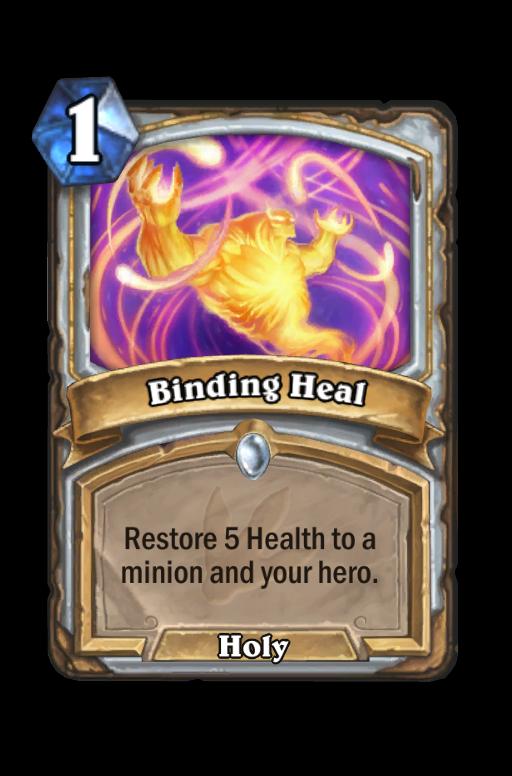 Binding Heal Hearthstone kártya