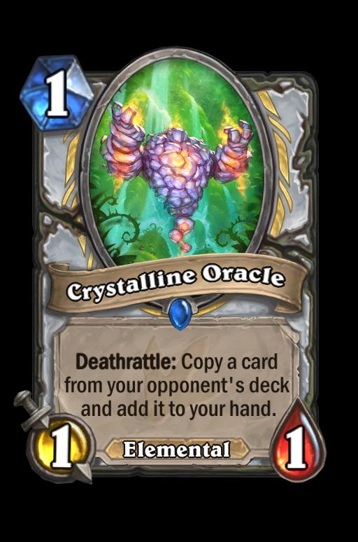Crystalline Oracle Hearthstone kártya