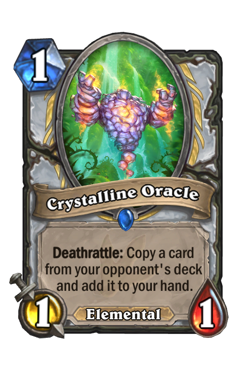 Crystalline Oracle Hearthstone kártya