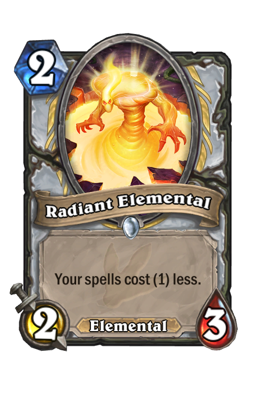 Radiant Elemental Hearthstone kártya