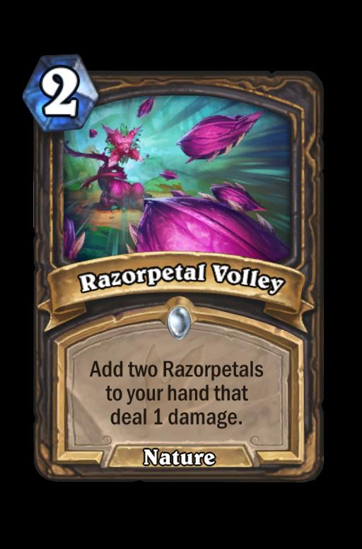 Razorpetal Volley Hearthstone kártya