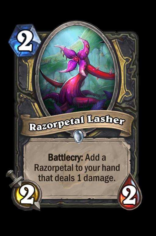 Razorpetal Lasher Hearthstone kártya
