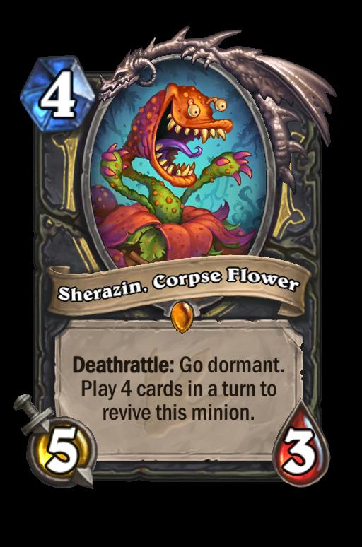 Sherazin, Corpse Flower Hearthstone kártya