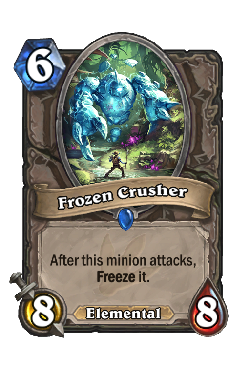 Frozen Crusher Hearthstone kártya
