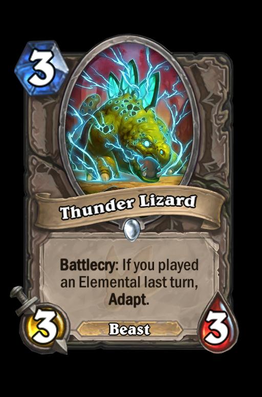 Thunder Lizard Hearthstone kártya