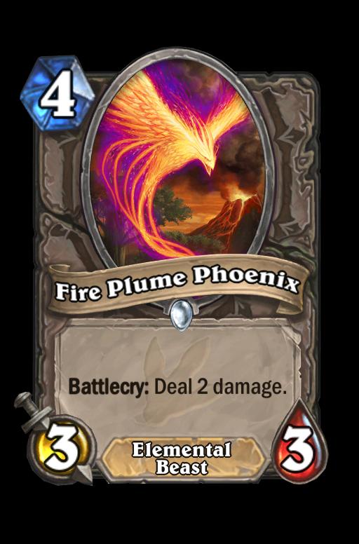 Fire Plume Phoenix Hearthstone kártya