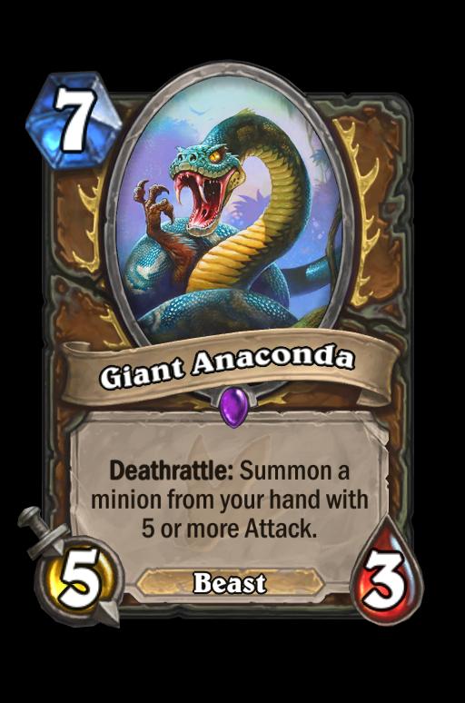 Giant Anaconda Hearthstone kártya