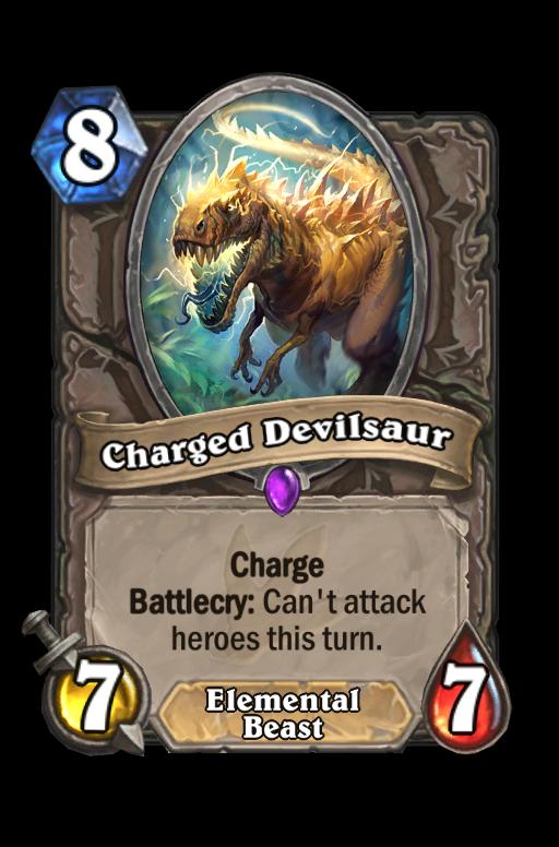 Charged Devilsaur Hearthstone kártya