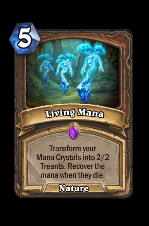 Living Mana Hearthstone kártya