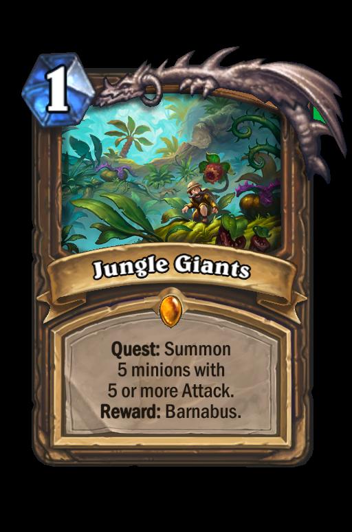 Jungle Giants Hearthstone kártya