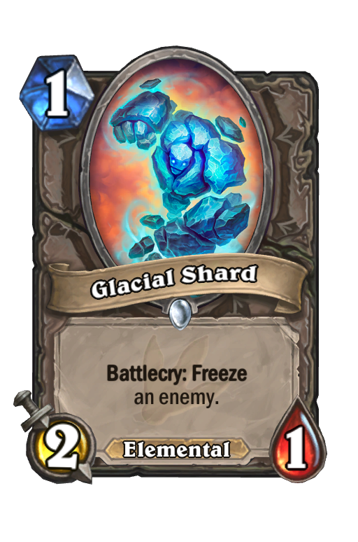 Glacial Shard Hearthstone kártya