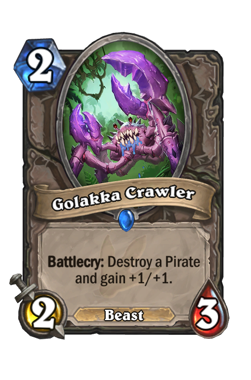Golakka Crawler Hearthstone kártya
