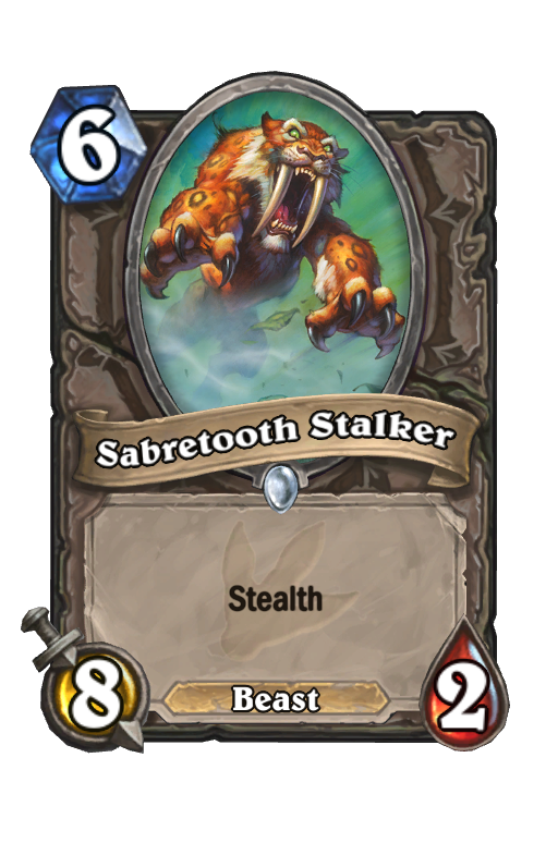 Sabretooth Stalker Hearthstone kártya