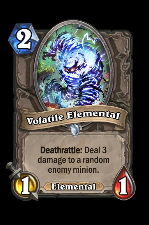 Volatile Elemental Hearthstone kártya