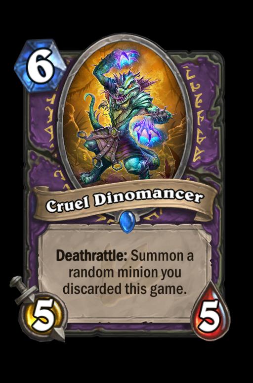 Cruel Dinomancer Hearthstone kártya