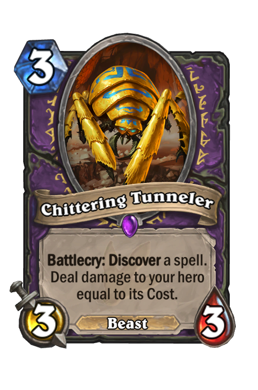 Chittering Tunneler Hearthstone kártya