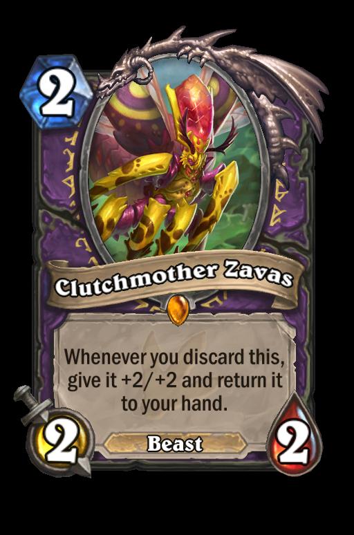 Clutchmother Zavas Hearthstone kártya