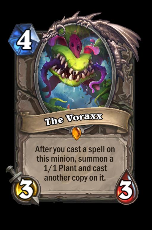 The Voraxx Hearthstone kártya