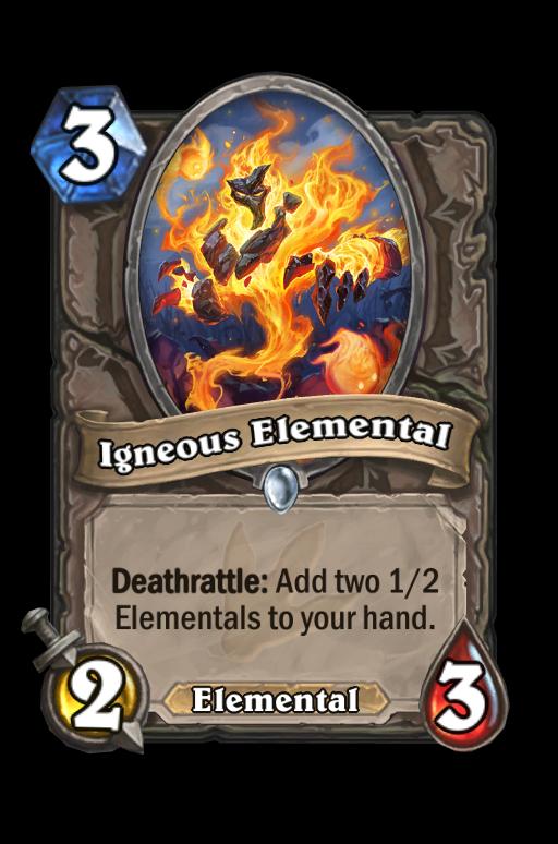 Igneous Elemental Hearthstone kártya