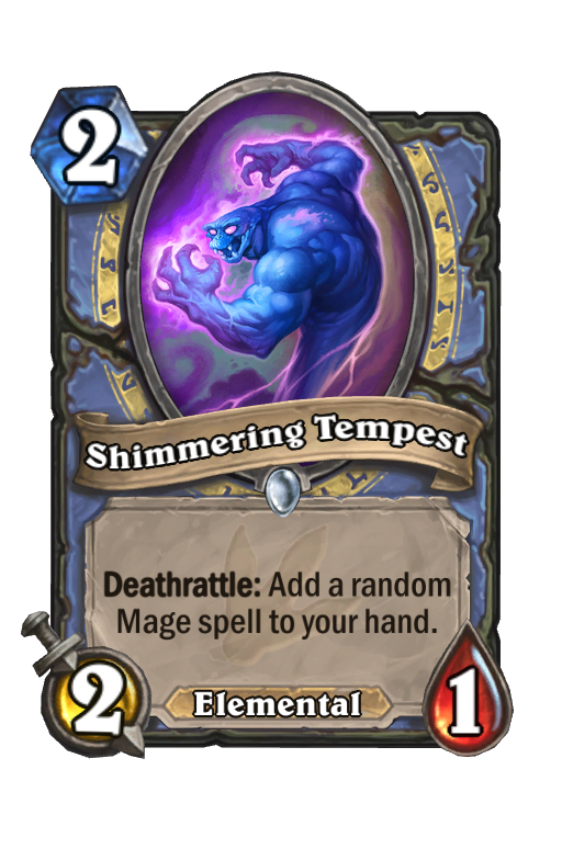 Shimmering Tempest Hearthstone kártya
