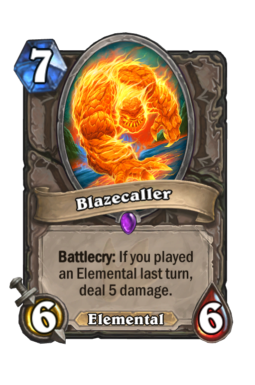 Blazecaller Hearthstone kártya