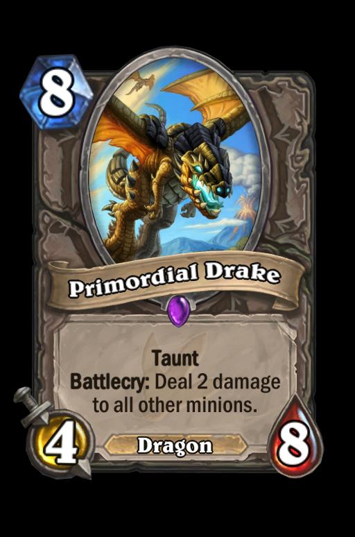 Primordial Drake Hearthstone kártya