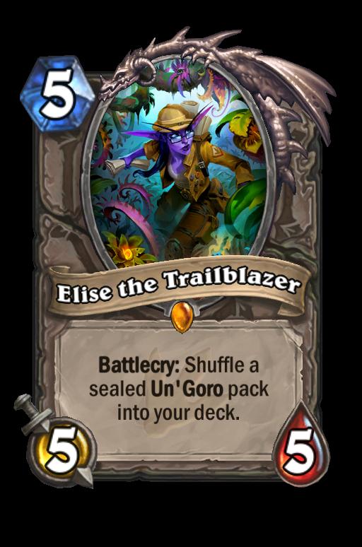 Elise the Trailblazer Hearthstone kártya