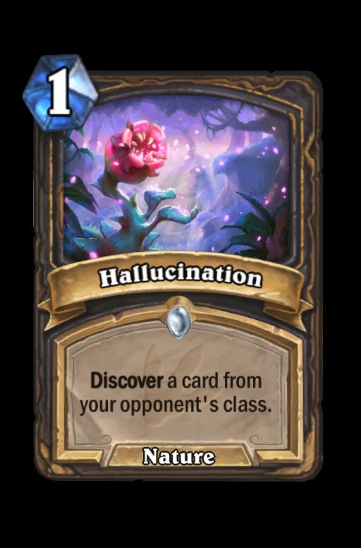 Hallucination Hearthstone kártya