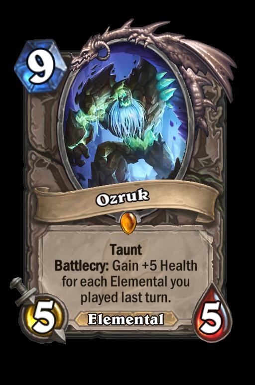 Ozruk Hearthstone kártya