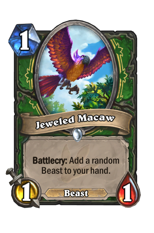 Jeweled Macaw Hearthstone kártya