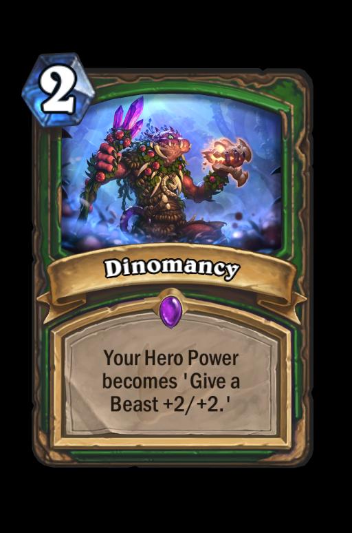 Dinomancy Hearthstone kártya