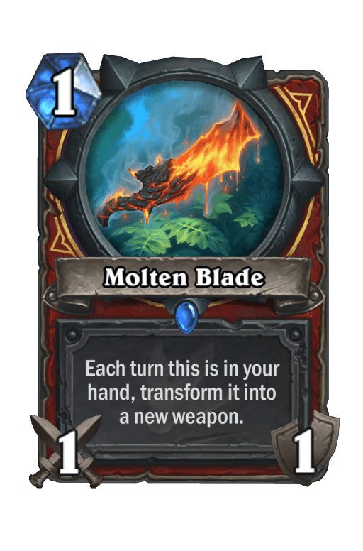 Molten Blade Hearthstone kártya