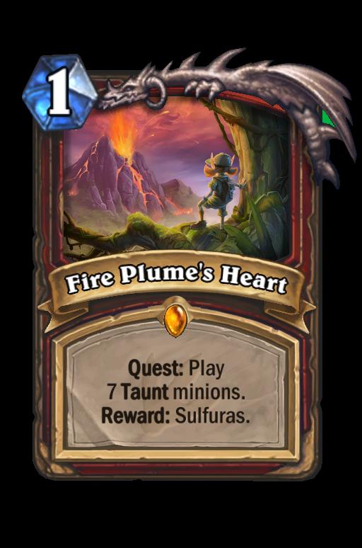 Fire Plume's Heart Hearthstone kártya