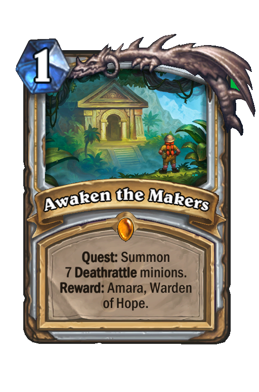 Awaken the Makers Hearthstone kártya