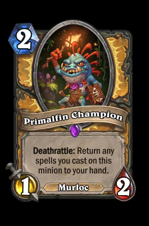 Primalfin Champion Hearthstone kártya