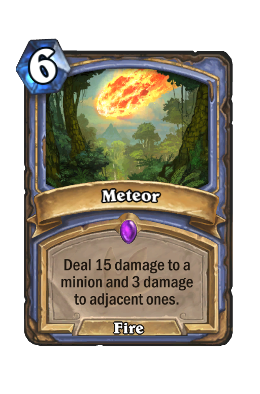 Meteor Hearthstone kártya