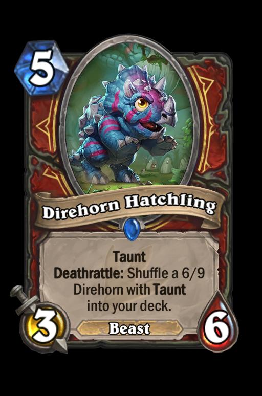 Direhorn Hatchling Hearthstone kártya