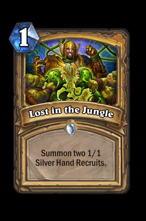 Lost in the Jungle Hearthstone kártya